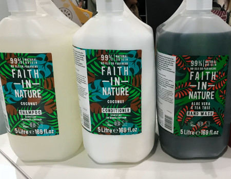 Faith In Nature on the Thyme Marketing Stand at Natural & Organic Products 2019