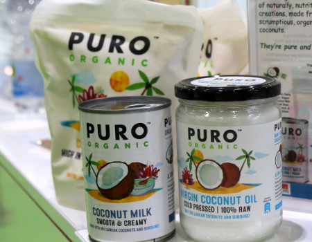 Puro on the Thyme Marketing Stand at Natural & Organic Products 2019