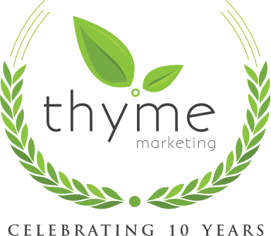 Thyme Marketing 10 years logo